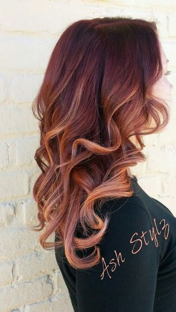 bold red hair with lighter copper locks