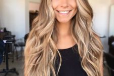 03 long chestnut hair with cool honey and blonde strands