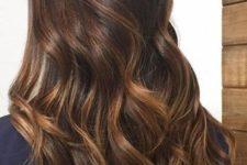 08 long dark brunette hair with caramel balayage