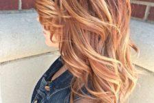 10 red to blonde balayage looks stunning
