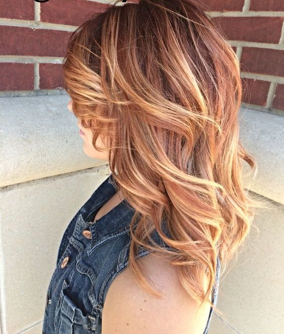 red to blonde balayage looks stunning