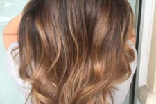 13 dark chocolate hair with caramel balayage