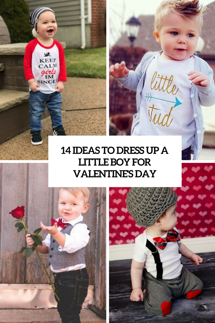 14 Ideas To Dress Up A Little Boy For Valentine's Day