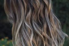 14 light brunette hair with blonde balayage for a soft look