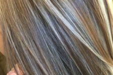 15 dark blonde straight hair with highlights