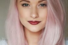 18 light pink hair looks very romantic and cute