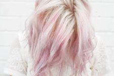 19 white hair with light pink balayage