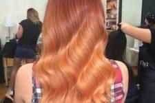 20 copper balayage on long hair