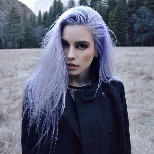 lilac hair shade on straight hair