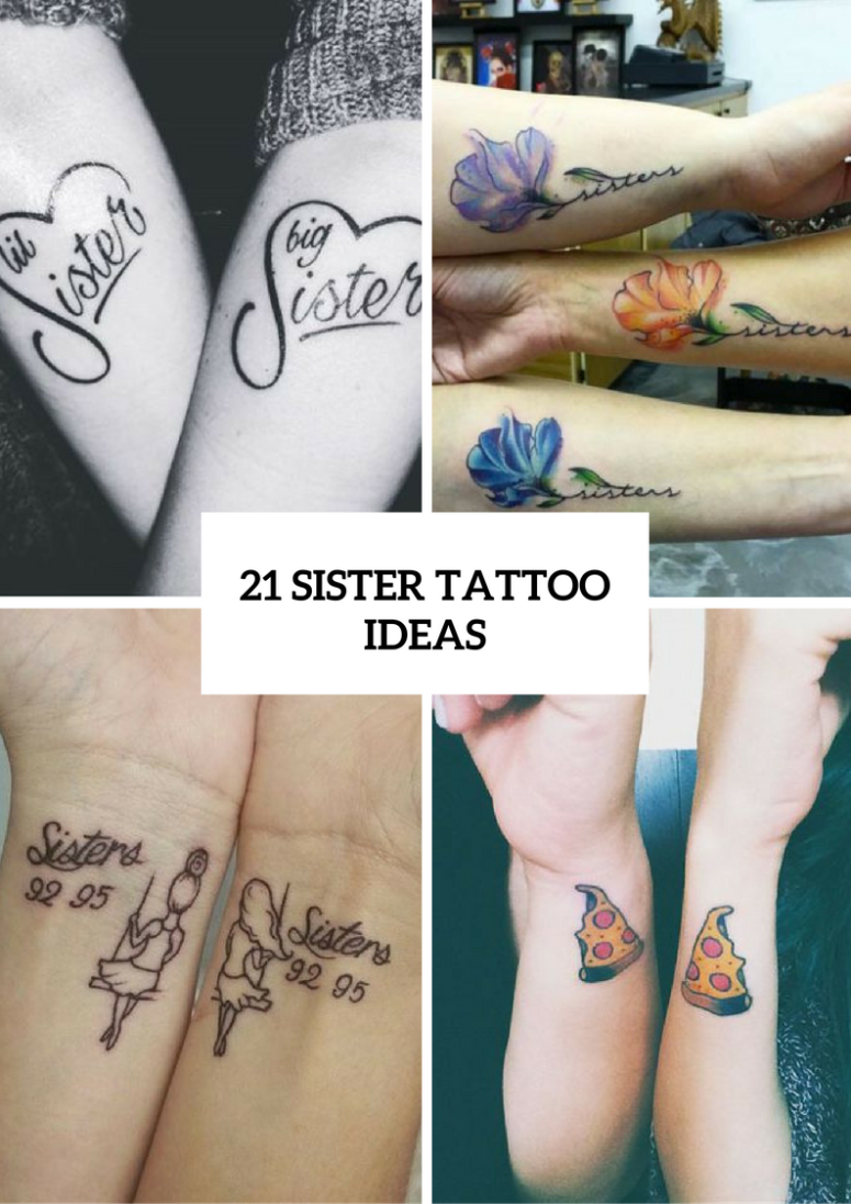 Charming Sister Tattoo Ideas