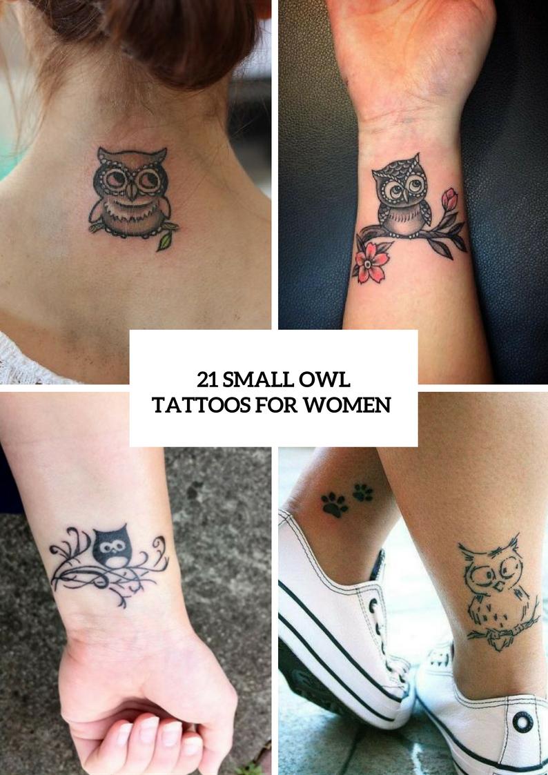 Small Owl Tattoo Ideas Women