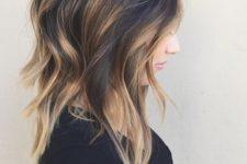 21 black layered hair with blonde balayage