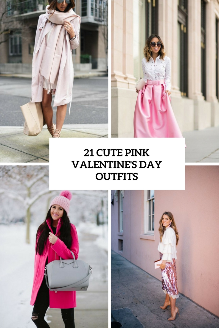 21 Cute Pink Valentine's Day Outfits - Styleoholic