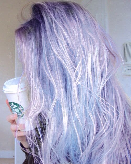 lilac with white and silver balayage