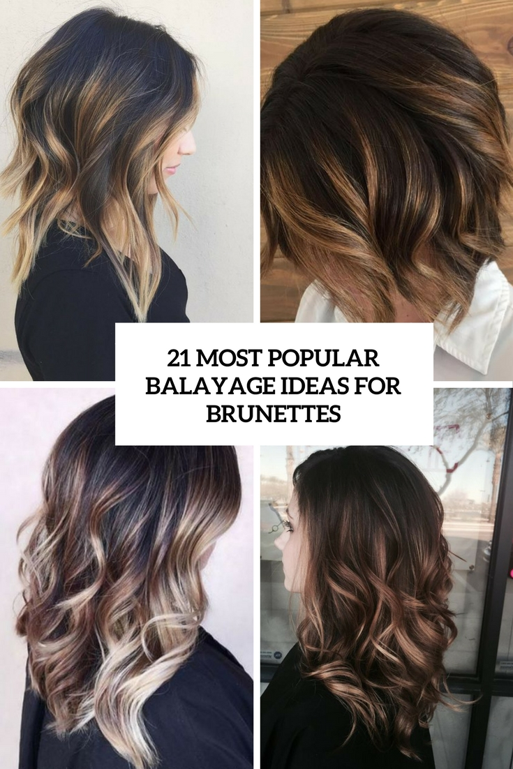 most popular balayage ideas for brunettes cover