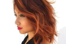 21 short red hair with copper locks for a bold statement