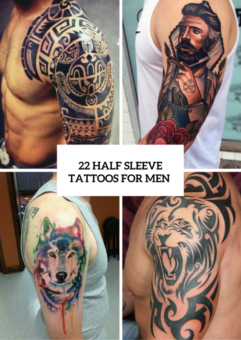 22 half sleeve tattoo ideas for men styleoholic for Ideas for half sleeve tattoos for men