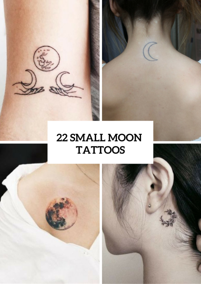 Small Moon Tattoo Ideas For Ladies