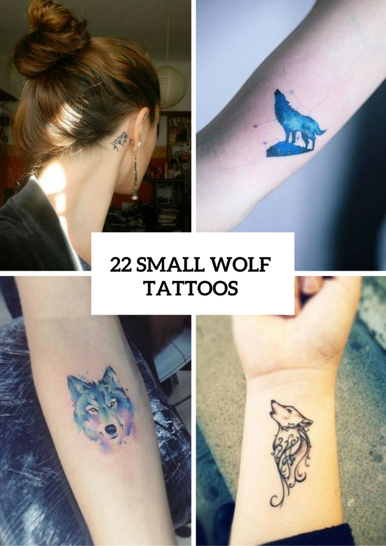 b09244433298a 22 Small Wolf Women Tattoo Ideas - Styleoholic