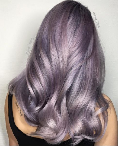 smoky lilac shade looks really unusual and soft