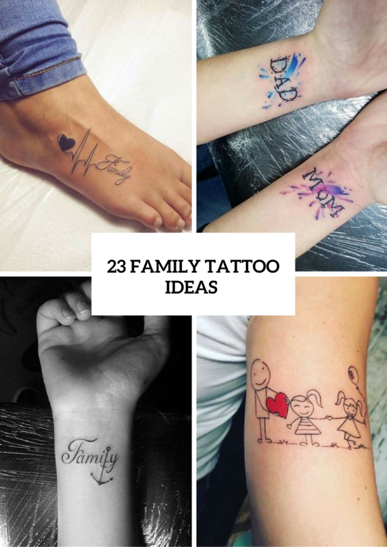 23 Family Tattoo Ideas For Ladies