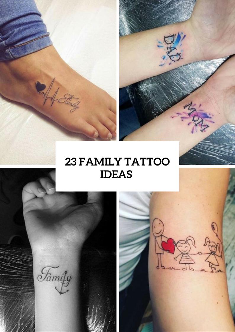 Family Tattoo Ideas For Ladies
