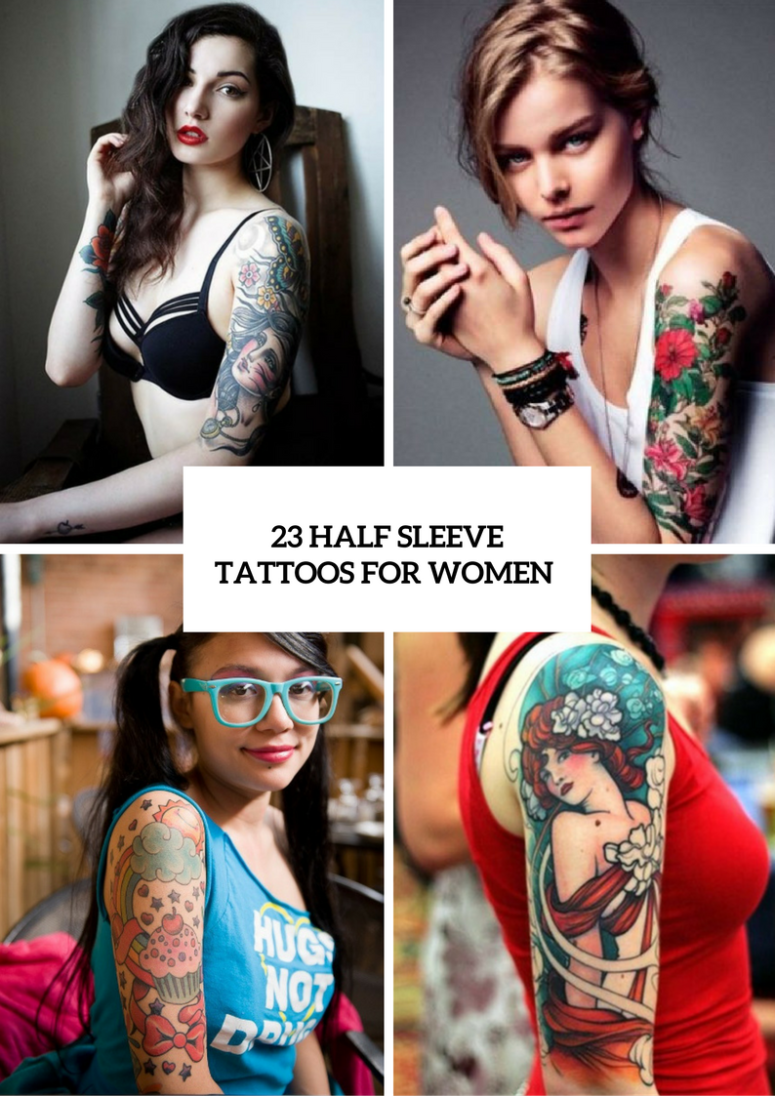23 Half Sleeve Tattoos For Women