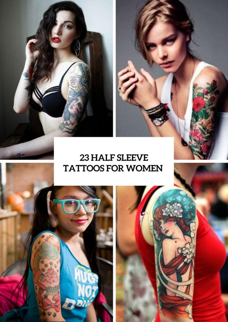 23 Half Sleeve Tattoos For Women