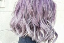 24 lilac to silver grey ombre hair