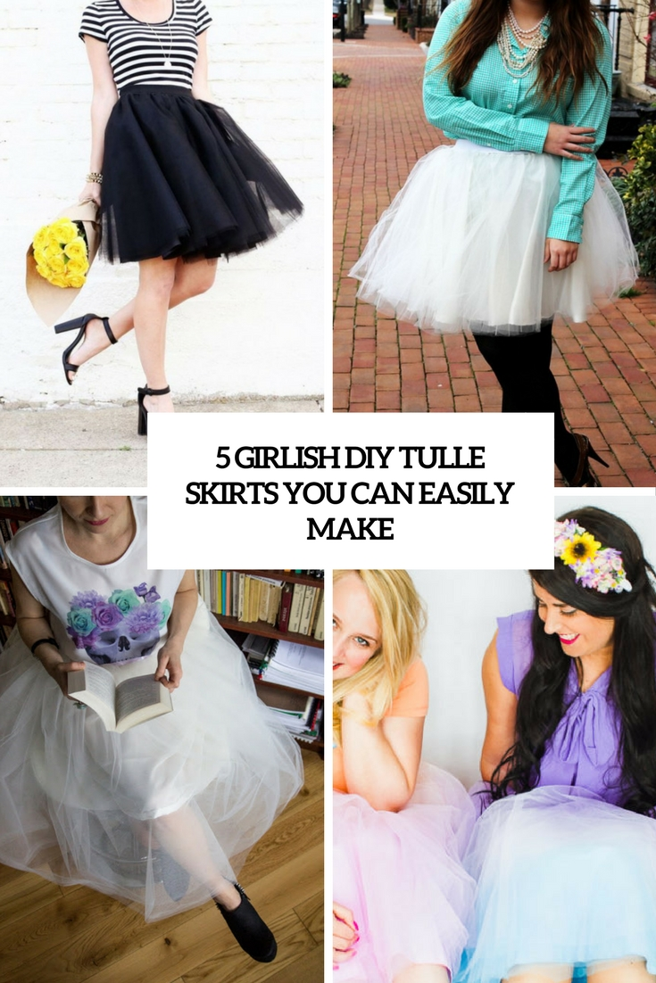5 girlish diy tulle skirts you can easily make cover