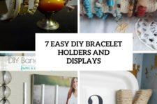 7 easy diy bracelet holders and displays cover