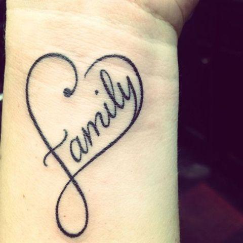 Black tattoo on the arm