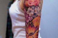 Bright color tattoo