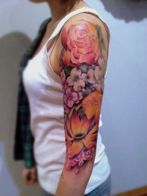 Bright color tattoo
