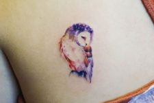 Charming tattoo on the back