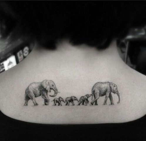 picture of elephant family tattoo. Black Bedroom Furniture Sets. Home Design Ideas