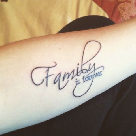 Picture Of Family Is Forever Tattoo