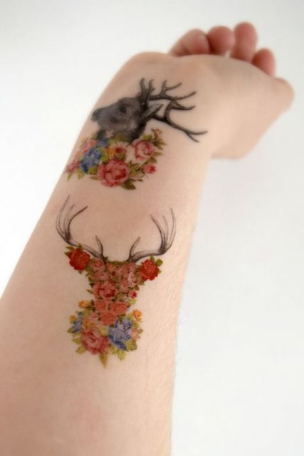 21 Small Deer Tattoo Ideas For Girls - Styleoholic