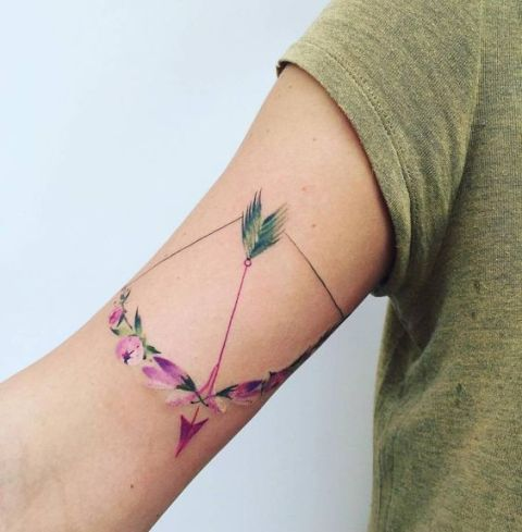 Floral tattoo on the arm