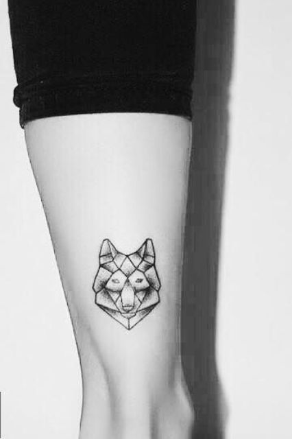 Picture Of Geometric Wolf Tattoo
