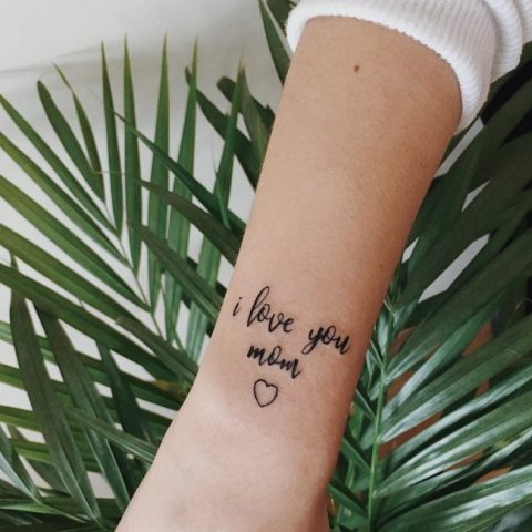 I love you mom tattoo