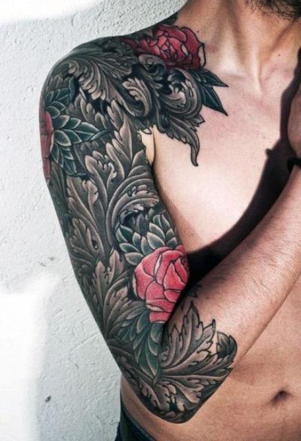 Pink rose tattoo idea