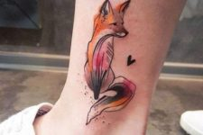 Stunning tattoo on the ankle