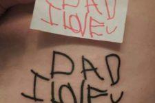 Touching phrase tattoo idea