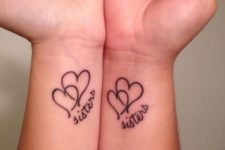 Two hearts sister tattoo ideas