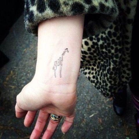 Unique tattoo on the right wrist