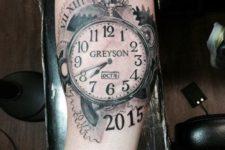 Watch tattoo idea