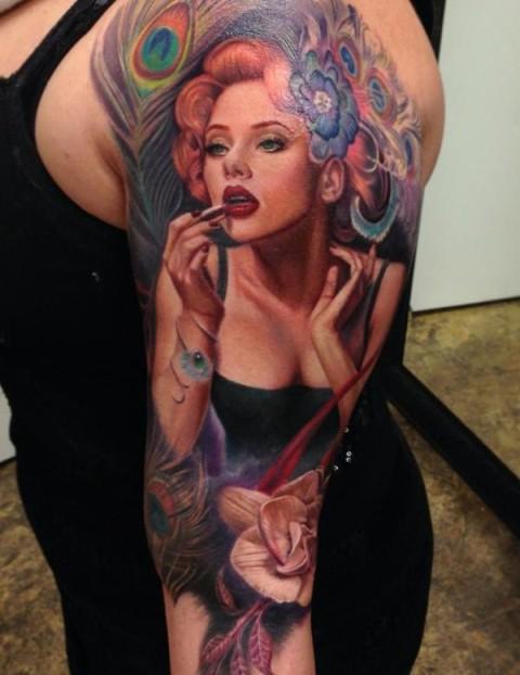 Woman tattoo idea