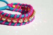 DIY Swarovski crystal friendship bracelets