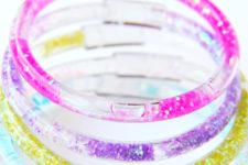 DIY glitter friendship bracelets